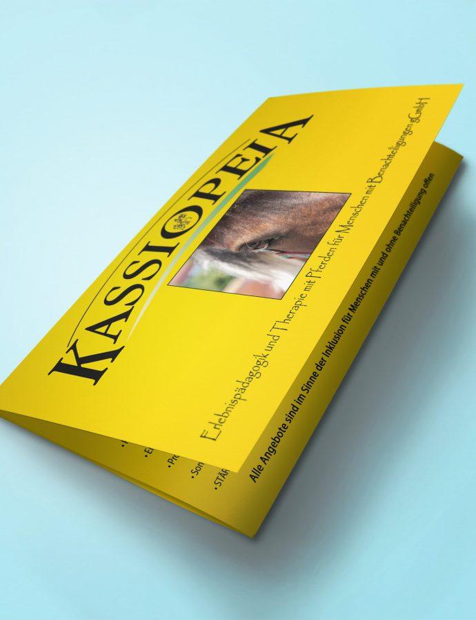 Flyer für therapeutisches Reiten Kassiopeia