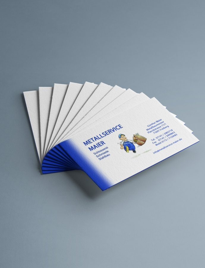 Visitenkarten für Bauschlosserei Metallservice Maier