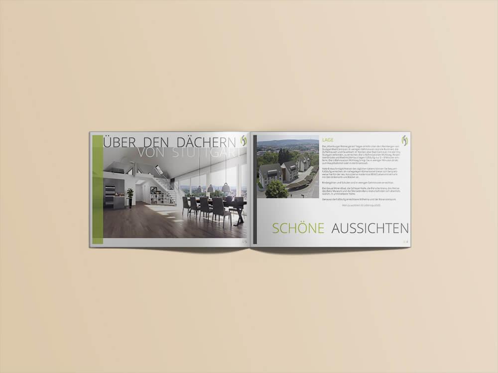 Exposé, Bauschild, Anzeige für Römergärten