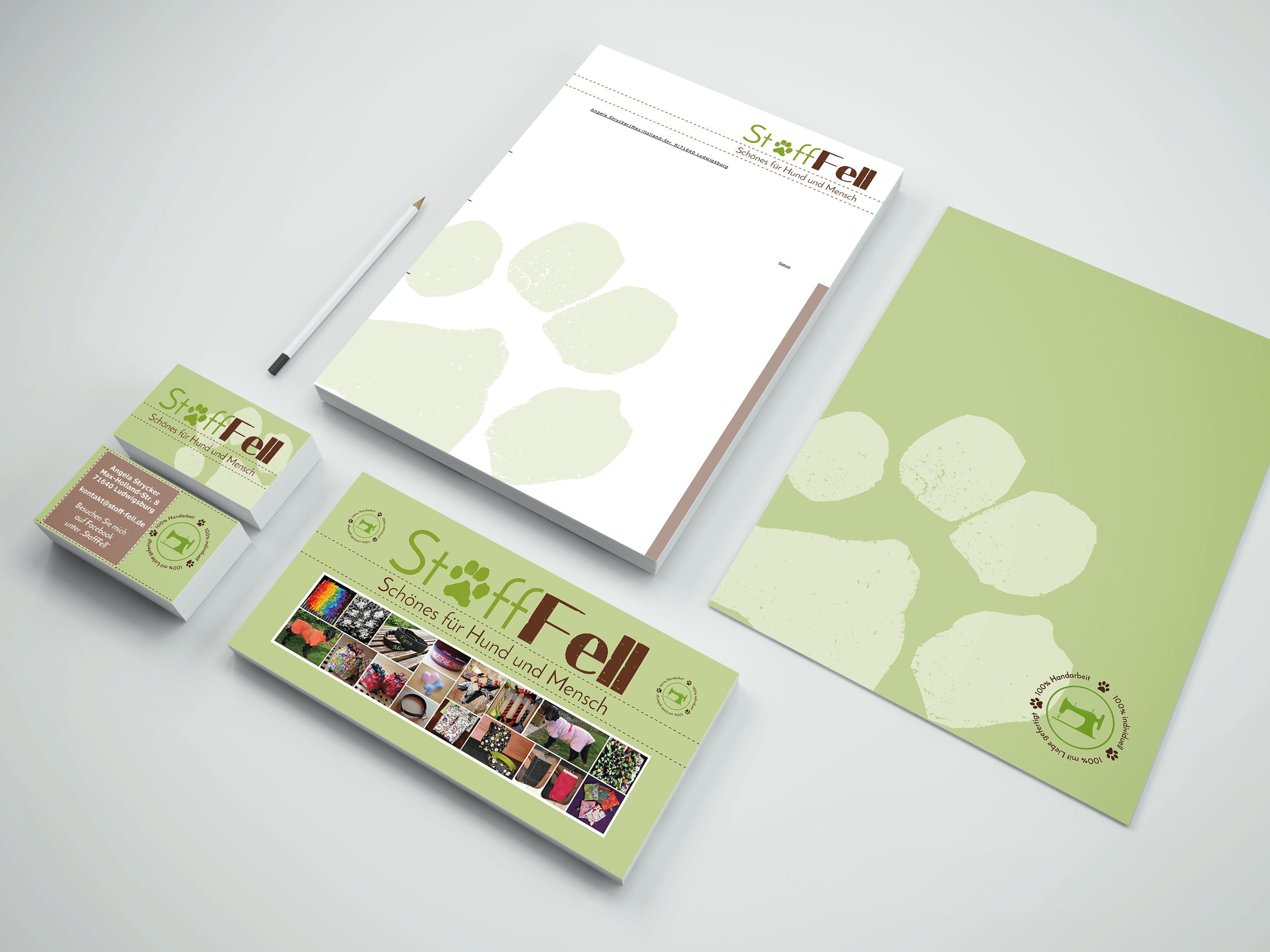 Visitenkarten, Flyer & Co. für 'StoffFell'
